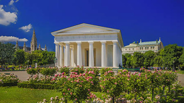 Theseus Temple in the Volksgarten, central Vienna